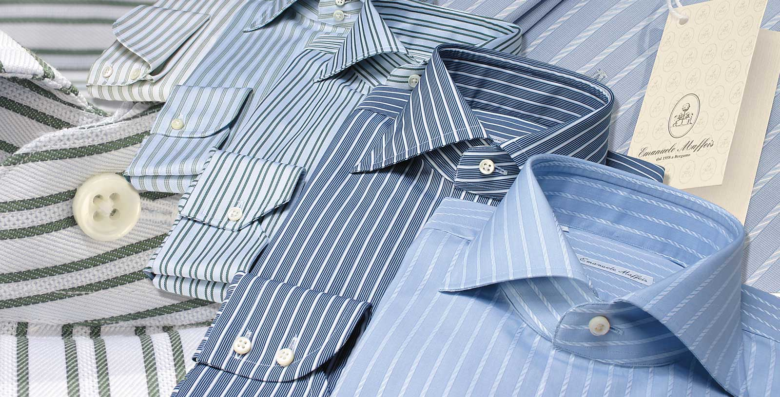 Fitted Shirts - Stripe Cotton Fabrics