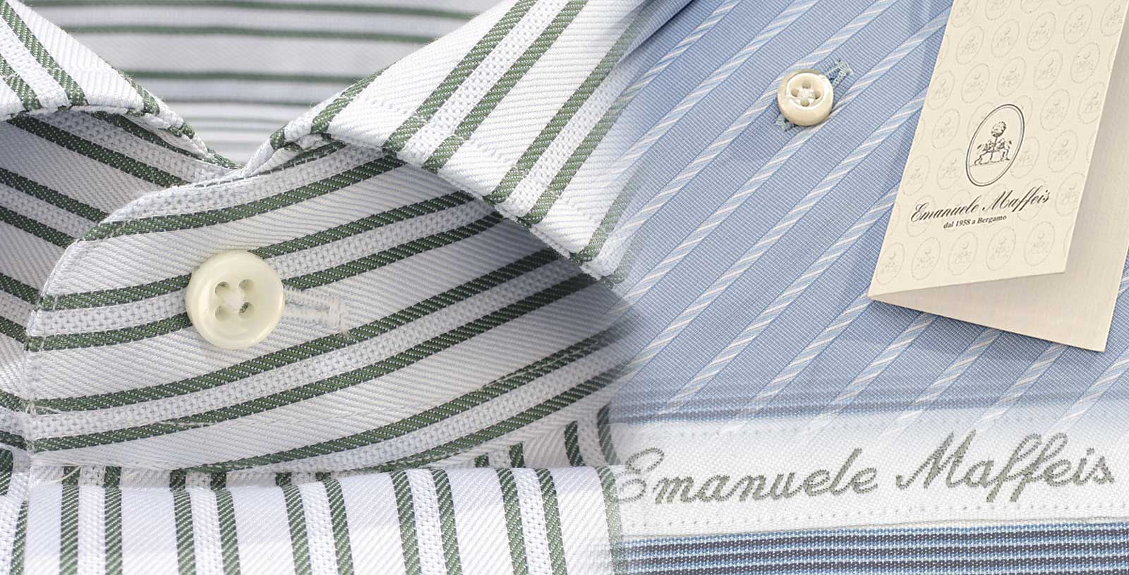 Fitted Shirts - Green Stripe